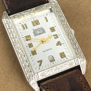 Neiman Marcus Red River Silver Tone Western Watch